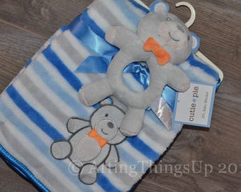Lion lovey etsy clearance sale personalized monogram baby elephant bear or lion security blanket set negle