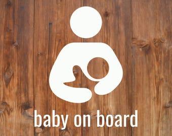 Breastfeeding Decal   Baby on Board   Bébé à Bord