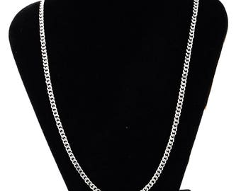 Thin steel chain stainless length 49 cm