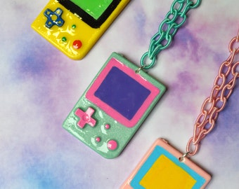 game boy controller necklace geeky,gamer, Soft Grunge, kawaii,soft grunge, lolita,harajuku,fairy kei