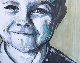 CUSTOM portrait listing - 11x14 acrylic painting