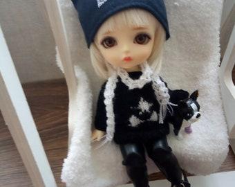 "PukiFee Lati Yellow Aquarius 15-16 сm BJD Set ""Stars White and black"" for dolls of Tiny format"