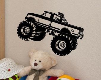 Superior Monster Truck Wall Decal Monster Truck Wall Decor Kids Bedroom Decor Baby  Boy Nursery Boys Room