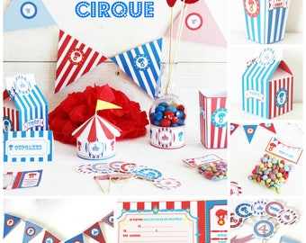 lot birthday circus for child-ready e decorate - for children 6 - candy bar