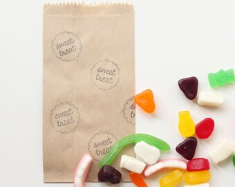 LOLLY BUFFET bags, lolly bags, treat bags, loot bags, paper lolly buffet bag, candy buffet bags x 10