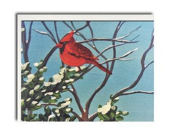 Cardinal Notecards - Red Bird Cards - Bird Stationery