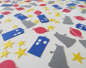 Doctor Who Confetti - Set of 170 - Dalek, Tardis, Party Decor, Doctor Who Party