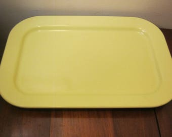 Vintage Melmac Texas Ware Tray #142 Yellow