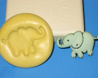 Elephant Silicone Flex Mold Candy Chocolate Soap Candle Resin Jenuine Crafts