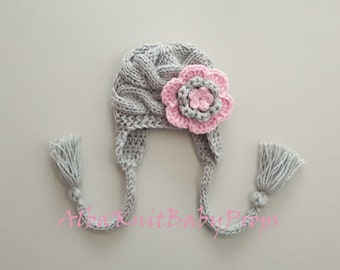 Knit Baby Girl Hat_Newborn Photo Props_Toddler Girl Winter Hat_Knit Baby Girl Winter Hat_Winter Baby Hat_Newborn Baby Hat_Toddler Baby Hat