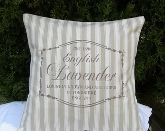 Pillow ticking and spirit of nature with hand painted inscription