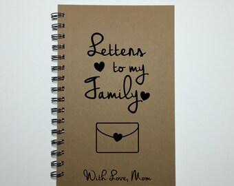 Letters to my Family, Journal, Notebook, Bullet Journal, Spiral Notebook, Gift to Children, Sentimental Gift, Mom Journal, Diary, Keepsake