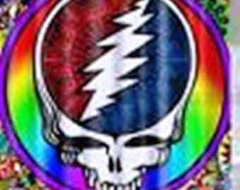 "DEADHEADS!! Steal Your Face Banner/Shower Curtain 71"" X 71"" NEW"