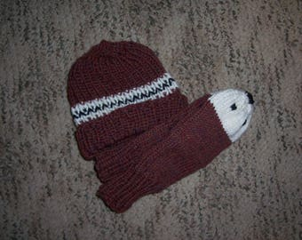 wool hat and mitts