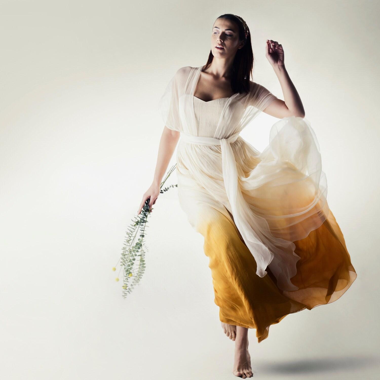 Ombré-Brautkleid Dip gefärbt Hochzeitskleid