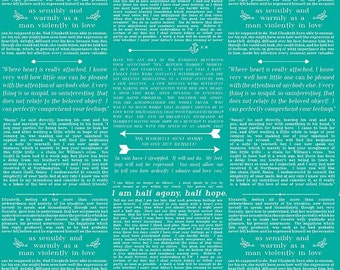 CLEARANCE: Ardently Austin Teal Text by Amanda Herring for Riley Blake Designs