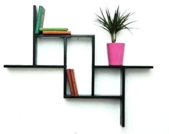 Geometrical floating shelves.wall shelves.shelf