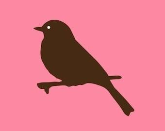 Bird on Branch Stamp   Bird Stamp   Rubber Stamp   Craft Stamp   A1