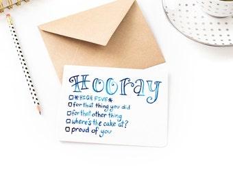 Hooray Checklist - Funny Any Occasion Celebration Blank Card
