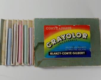 Vintage Conte A Paris Crayolor box, Blanzy-Conte-Gilbert