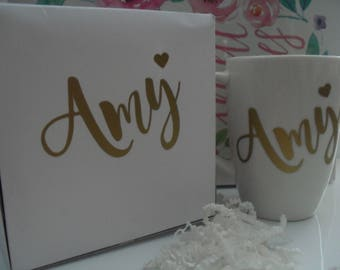 Personalized Gift Box  With Coffee Mug/Will You Be My Bridesmaid Gift Box/Will You Be My Maid of Honor Gift Box/Wedding Favor