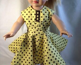 """Polkdot Dress for 18"""" doll"""