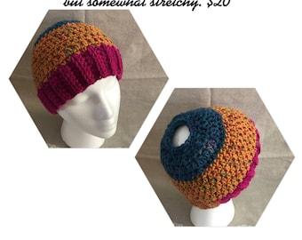 Womens messy bun hat