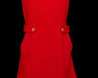 Retro 60s Red Jumper Dress       LV0075