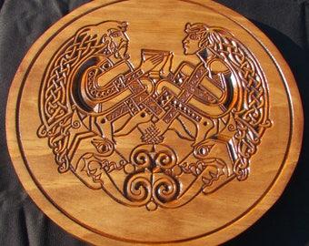 """Celtic/Norse Art Cup of Friendship;11"""" Celtic- Norse Plaque;Celtic Art;Norse Art"""