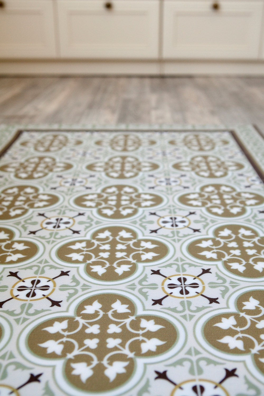 Free Shipping Tiles Pattern Decorative PVC Vinyl Mat Linoleum