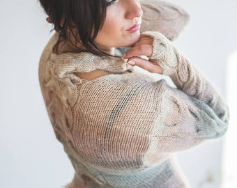 Hand Knit Sweater Women, Women Sweaters, Handmade Sweater Knitwear, Knit Pullover, Knitted Sweater, Knit Top, Stylish Sweaters Women,