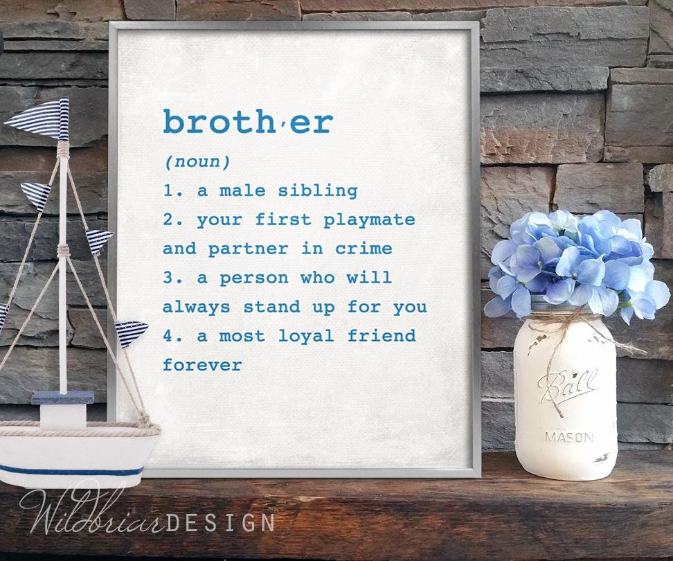 Printable wall art brother dictionary definition 8x10 boys zoom stopboris Image collections
