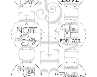 Digital Stamp - Instant Download - Sentiments - Sent With Love - COMMERCIAL USE