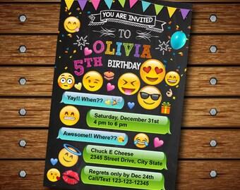 Emoji Invitation Emoji Birthday Invitation Emoji Birthday