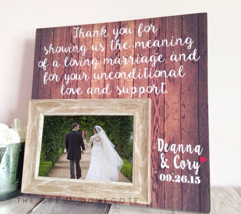 Vielen Dank Eltern Hochzeit Mutter der Brautgeschenk