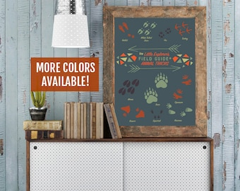 Woodland Nursery Print, Animal Tracks Print, Forest Nursery Wall Art, Woodland Creatures Poster, Woodland Animals Decor