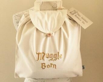 Muggle Born Harry Potter Inspired Embroidered Adventurer's / Festival Backpack. 100%Organic Cotton Backpack Children's Bags