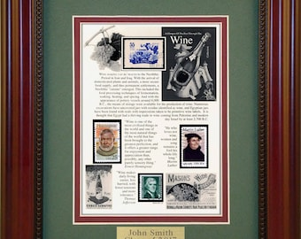 Wine 5622 - Personalized Framed Collectible (A Great Gift Idea)