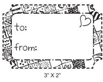 Patchwork To and From Tag Rubber Stamp 270