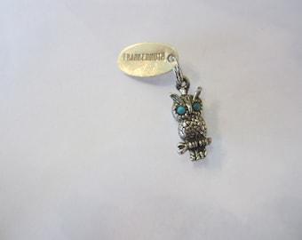 Owl Charm, Sterling Silver Owl Charm, Frankenmuth Charm