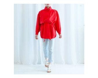 80s Clothing / Vintage / Silk / Summer / Jacket / Silk Jacket / Red Silk Jacket / Red Jacket / Vintage Silk Jacket / 1980's / Red 80s Jacket