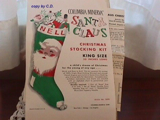 Vintage Knit Christmas Santa Stocking Pattern COPY 60\'s