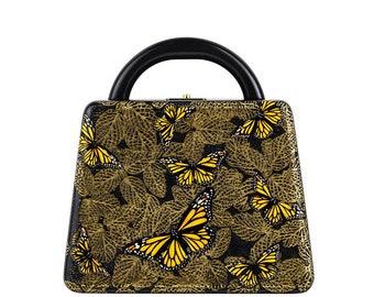 Woman handbag gold RENAISSANCE Trapezium