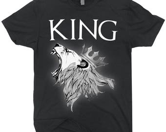 King Lion T-shirt Roaring Lion Shirt Gift