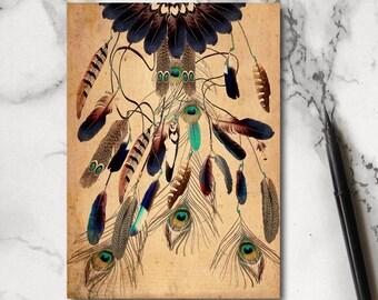 Feather Notebook - Jotter - Notepad - Stocking Filler - Bohemian Notebook - Journal