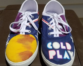 Hand Painted Coldplay Shoes