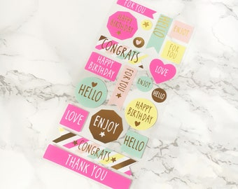 Pastel Gift Stickers - Pastel Gift Stickers Set - Pastel Gift Tags - Pastel Stickers Gift Set - Pastel Gift Wrapping