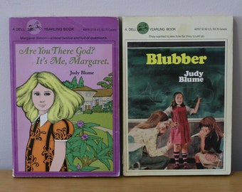 Judy Blume Set: Are You There God? It's Me Margaret and Blubber / Paperback/ Vintage / 1980's