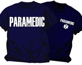 PARAMEDIC Navy Blue Duty T-Shirt Size Small to 4X-Large SKU: EMS101-4x
