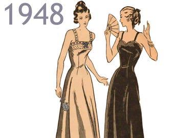 """1940s Lingerie Pattern Long Slip Pattern Petticoat Pattern Camisole Pattern BUTTERICK 4595 bust 32"""" Long Skirt Slip Pattern Vintage Lingerie"""